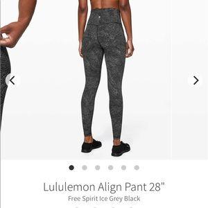 """Lulu Lemon Align leggings 28""""🌟"""